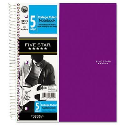 Five Star 06112 Trend Wirebound Notebooks- 5-sub- College- We- 8 12 X 11- 20...