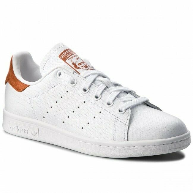SCARPE ADIDAS ORIGINALS UOMO DONNA STAN SMITH B38040 BIANCO BROWN NUOVE ORIGINAL