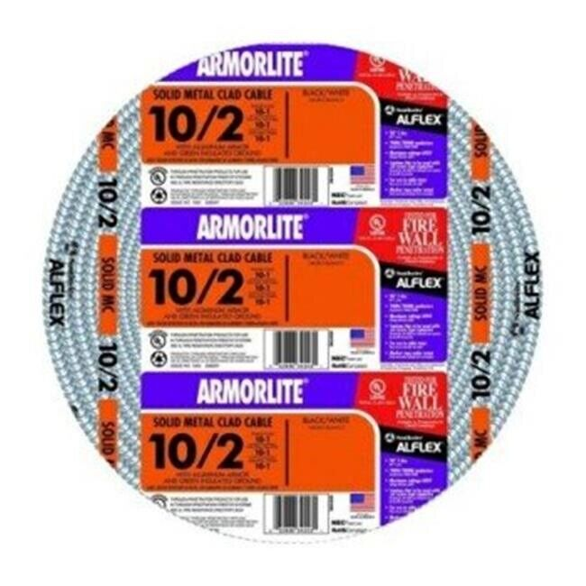 Southwire Armorlite 250' 10/2 Solid Aluminum MC Cable 68581801