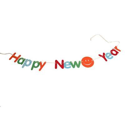 2019 Happy New Year Eve Color Banner Garland Party Letter String Decor Cheers US - Cheers Banner