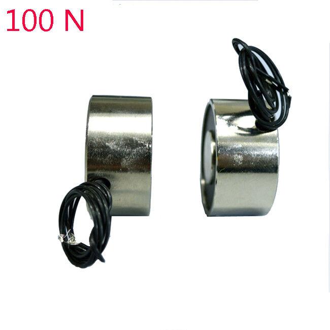 New 100N DC 12V S Electric olenoid Lifting Magnet Electromagnet 10Kg 22 LB
