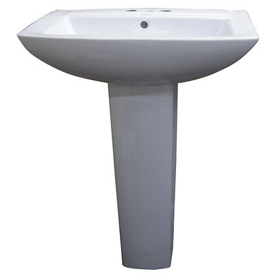 ... inch spread ceramic pedestal sink product description this sink comes
