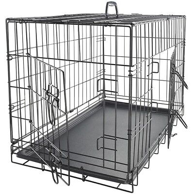 Dog Crate For Extra Large Dogs Kennels Best Double Door Folding Metal Wire Cage