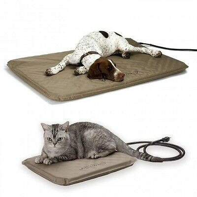 K&H Medium Indoor/Outdoor Lectro Soft Heated Dog Bed with Fleece Cover KH1080 3
