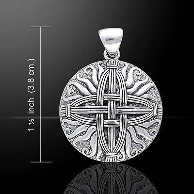 Courtney Davis Cross Of St  Brigid  925 Sterling Silver Pendant Peter Stone
