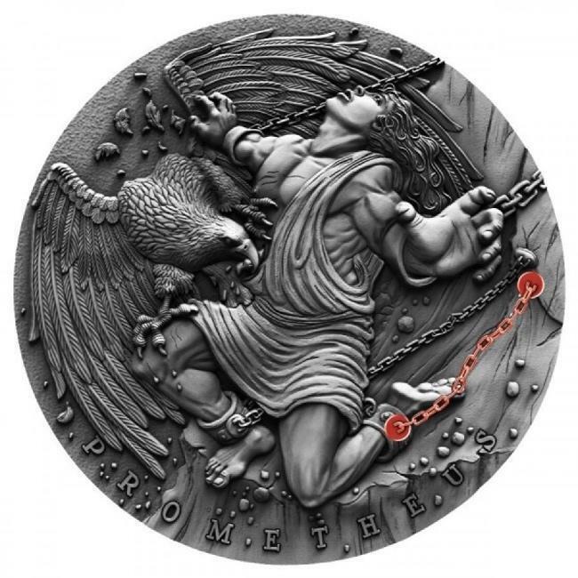 2019 Niue PROMETHEUS 2oz Silver Coin