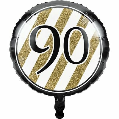 Black and Gold 90th Birthday Foil Balloon 90 Birthday Party Decoration](90th Birthday Balloons)