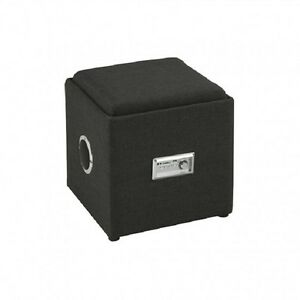OTTOMAN WITH. BLUETOOTH AUDIO… GREY OR WHITE