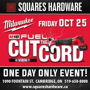 Milwaukee Tools Cut The Cord Event: Oct 25 2019