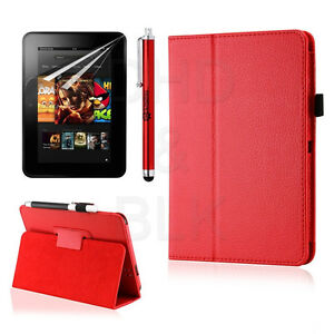 Folio PU Leather Case Smart Cover Stand for Amazon Kindle Fire HD 7