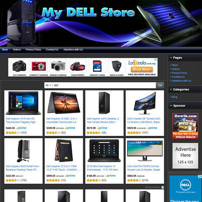 Microsoft Dell Desktop Laptop Store - Affiliate Business Website For Sale
