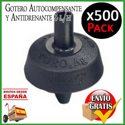 Dripper Autocompensante And Antidrenante 3 Litres / Time Irrigation 500 Pcs