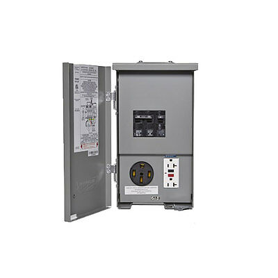 Connecticut Electric PSC-55GR-HR 120/240V RV Panel 50A Breaker, 20 Amp GCFI