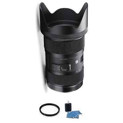 Sigma 18-35mm f/1.8 DC HSM Lens for Canon + UV Filter & Cleaning Kit