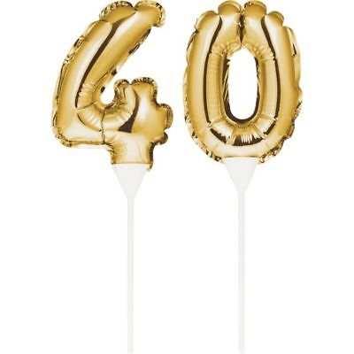40th Birthday Party Cakes - Gold 40th Birthday Balloon Cake Topper 40 Number Balloon Party Decoration