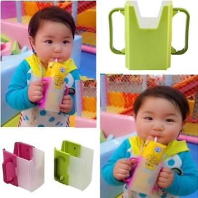 Family Adjustable Juice Milk Box Drinking Cup Holder Baby Toddler Supplies -