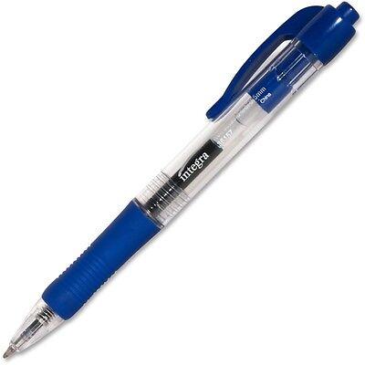 Integra Gel Pen,Retractable,Permanent.5mm Point, Blue Barrel/Ink (ITA36157) ()