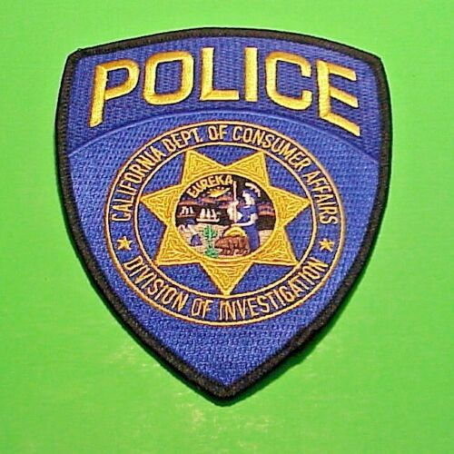 CALIFORNIA   DEPT. OF CONSUMER AFFAIRS  DIVISION OF INVESTIGATION  POLICE PATCH