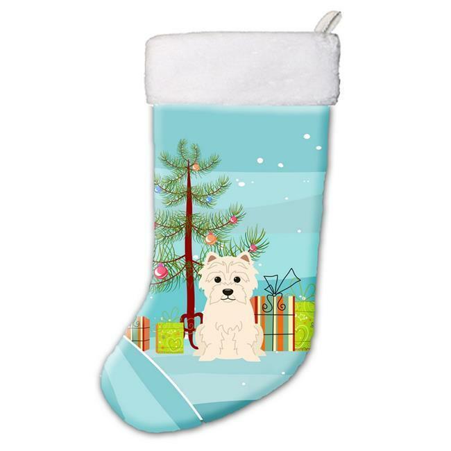 Carolines Treasures BB4167CS Merry Christmas Tree Westie Christmas Stocking