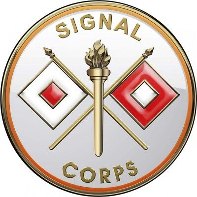"""Army Signal Corps All Metal Sign 14"""" Round"""