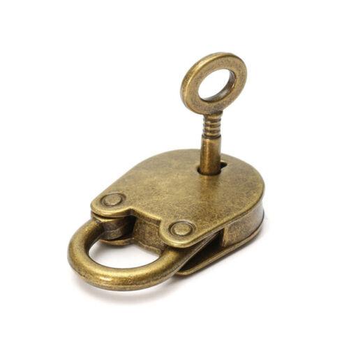 Antique Bronze Vintage Old Retro Skeleton Key Cabinet Barrel Lock CH
