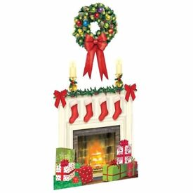 BRAND NEW SEALED LARGE HOLIDAY HEARTH SCENE SETTER 33.5 in x 65 in
