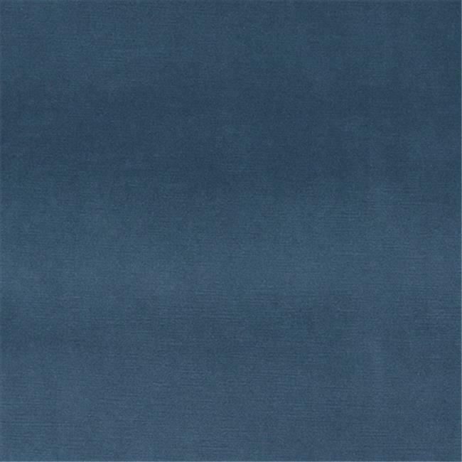 Designer Fabrics K0001A 54 in. Wide Blue Authentic Cotton Velvet Upholstery F...