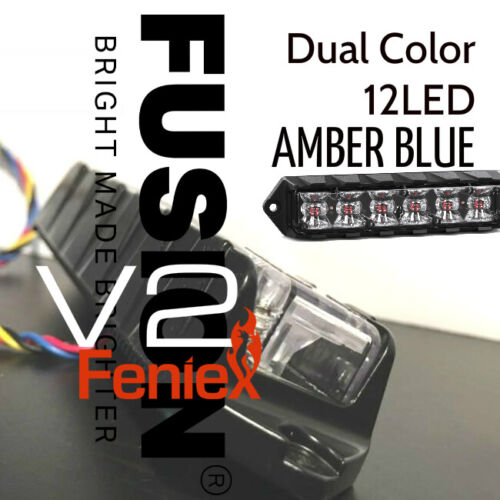AMBER BLUE Dual Color Feniex Fusion 180°  V2 Surface Mount Lights  SALE