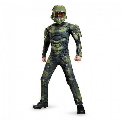 Disguise Halo Master Chief Klassisch Muskel Jungen Kinder - Halo Master Chief Kinder Kostüm