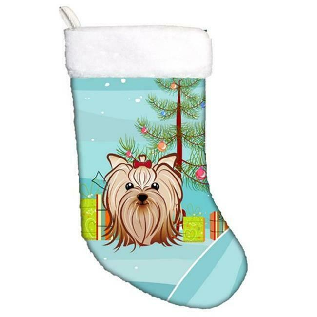 Carolines Treasures BB1576CS Christmas Tree & Yorkie Yorkishire Terrier Chris...