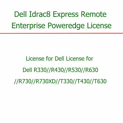 Dell iDRAC8 Enterprise License forT330 R330 R430 R530 R630 R730 R730XD R830 R930
