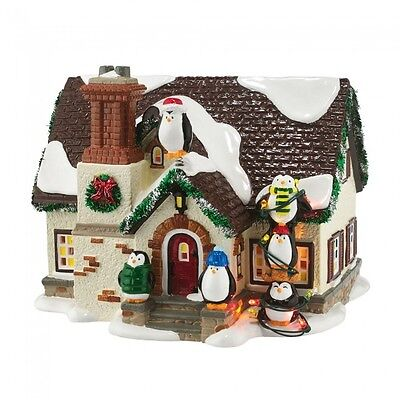 Dept 56 Snow Village Christmas Lane New 2016 THE PENGUIN HOUSE 4050980 D56 BNIB