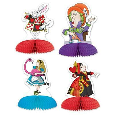 Alice In Wonderland Mini Centerpiece Set 4 Pack Girls Birthday Party Decoration](Wonderland Parties)