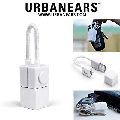 Urbanears Lightning USB Travel Charger Sync Cable Keyring iPhone X 8 7 6 5 Plus