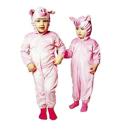 Little Piggy Pig Infant Child Pajama Pjs Costume Size 1-2](Little Piggy Costume)