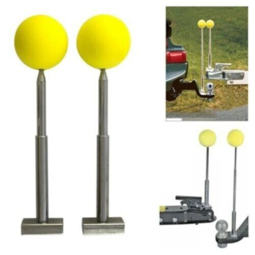 Magnetic Trailer Ball Hitch Back-Up Alignment Kit Telescoping Rods Boat RV Truck