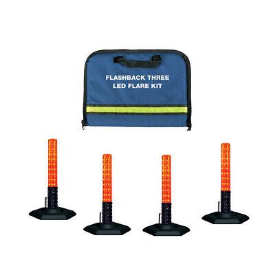 Emi Flashback Three Police Traffic Led Red Flare Baton Kit 4-pack