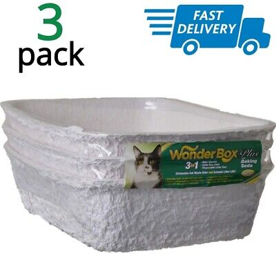 Disposable Litter Box For Cats Small Dogs Biodegradeable Recycled Paper Tray (Small Litter Boxes)