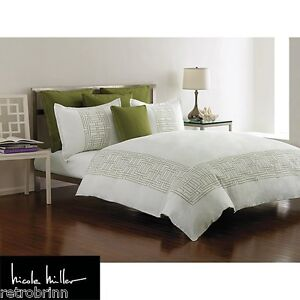 Argos Apple Green Embroidered Nicole Miller Standard  Sham Cotton