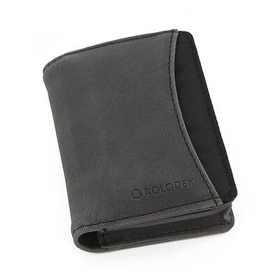 Rolodex Identity Personal Card Case 36 Card Capacity Blackgray 2 Packs