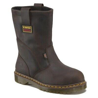 Mens US Size 9 10 11 13 14 Doc Dr Martens ICON 2295 - IM - Steel Toe Brown (Doc Martens Steel Toe Boots)