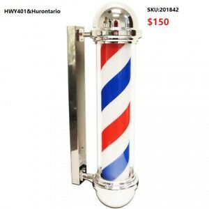 LED Blue Red Stripe Rotating Barber Shop Pole From $150-PICK UP