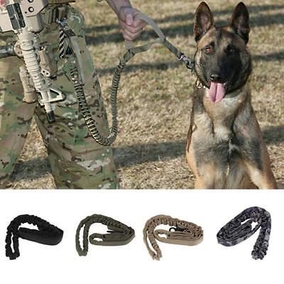 Tactical Police Pet Dog Training Leash Belt Elastic Bungee Canine Military Shan ()