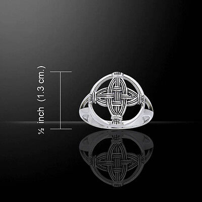 Celtic Cross Of St  Brigid Sterling Silver Ring By Peter Stone Unique Detail
