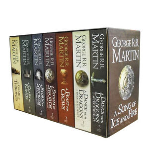 A Game of Thrones Box Set George R. R. Martin 7 Books Set Volume 1 to 5 PB Brand