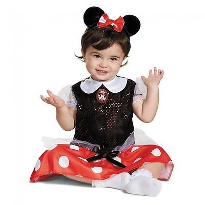 Girls Minnie Mouse Costume Fancy Dress Red Disney Child Infant 12-18 Month - 18 Month Minnie Mouse Costume