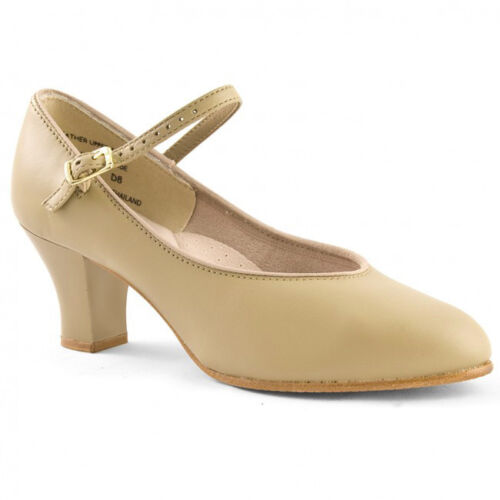"""650 Capezio 2"""" Student Footlight Leather Character Shoe - Tan"""