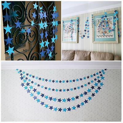 Star Garland Decoration (Hanging Star Paper Garland Wedding Party Home Decoration Banner Supplies Prop)