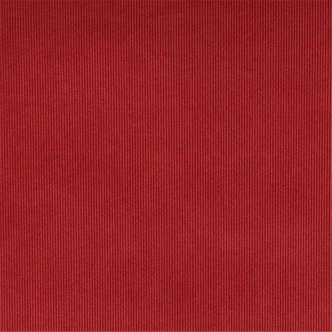 Designer Fabrics C181 54 in. Wide Ruby Red Thin Solid Corduroy Striped Uphols...