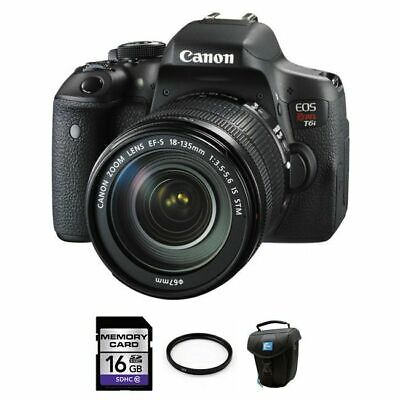 Canon EOS Rebel T6i 24.2MP Digital SLR Camera with EF-S 18-
